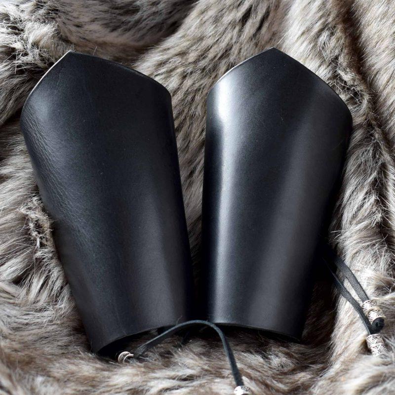 black_leather_bracers