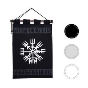 Vegvisir Tapestry with Elder Futhark Runes