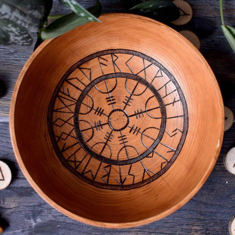 aegishjalmur Norse offering bowl