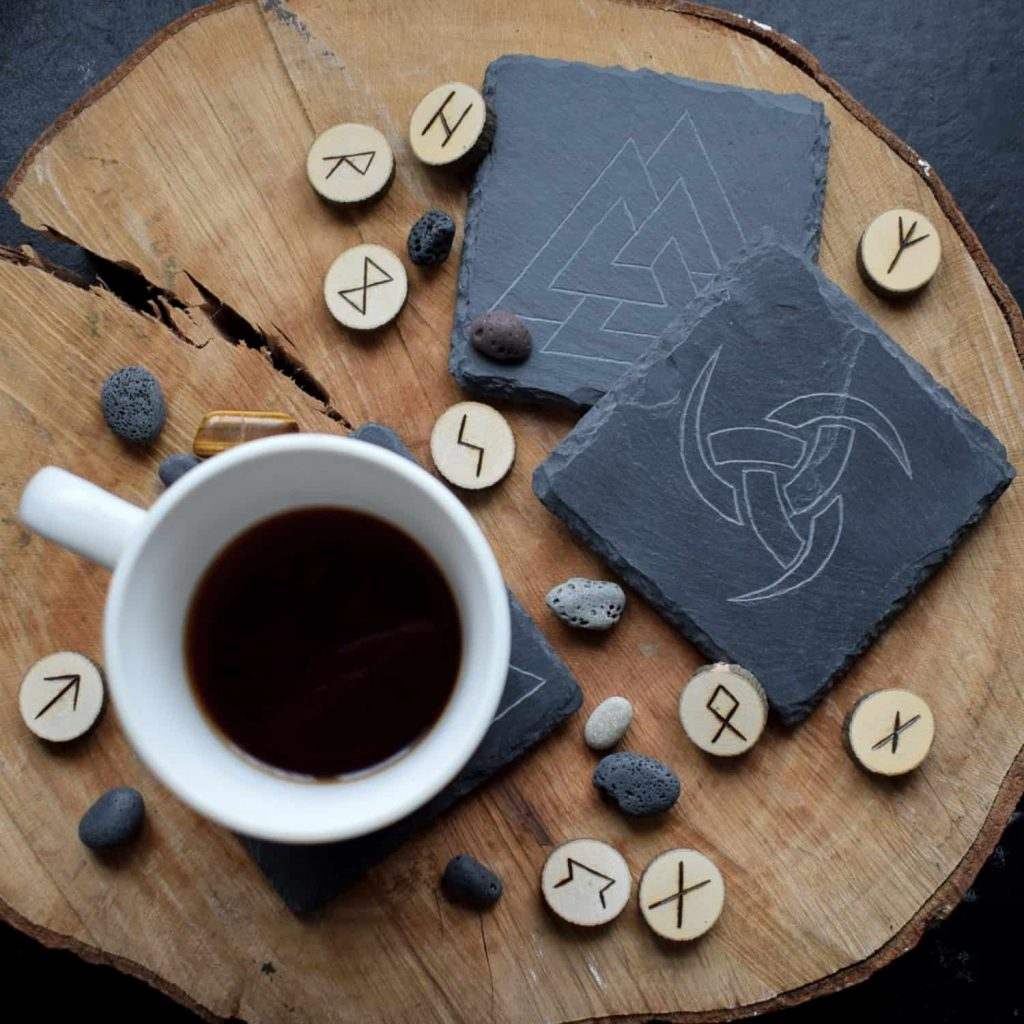Slate Viking Coasters