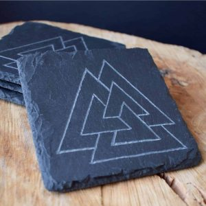 Valknut Viking coasters