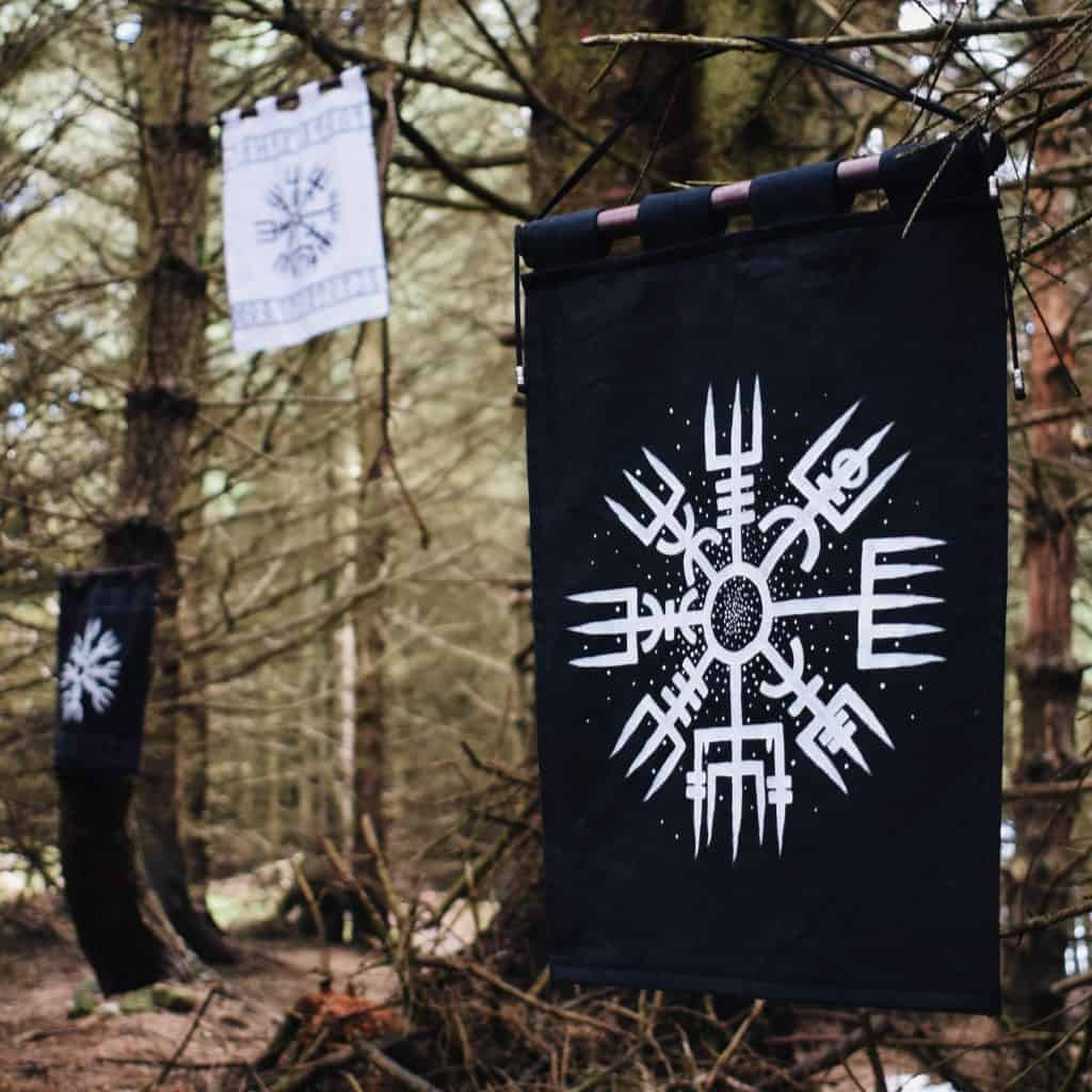 Norse symbols tapestry
