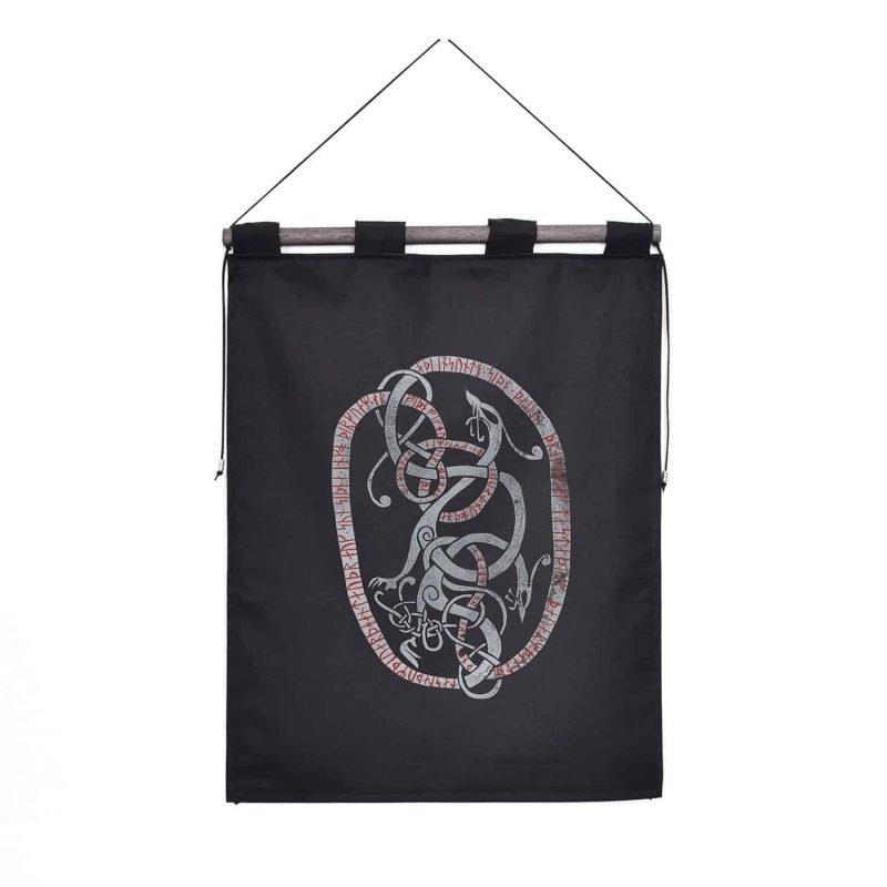 runestone tapestry black custom message