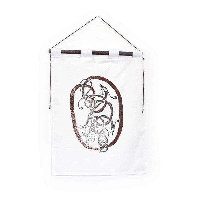 runestone tapestry white custom message