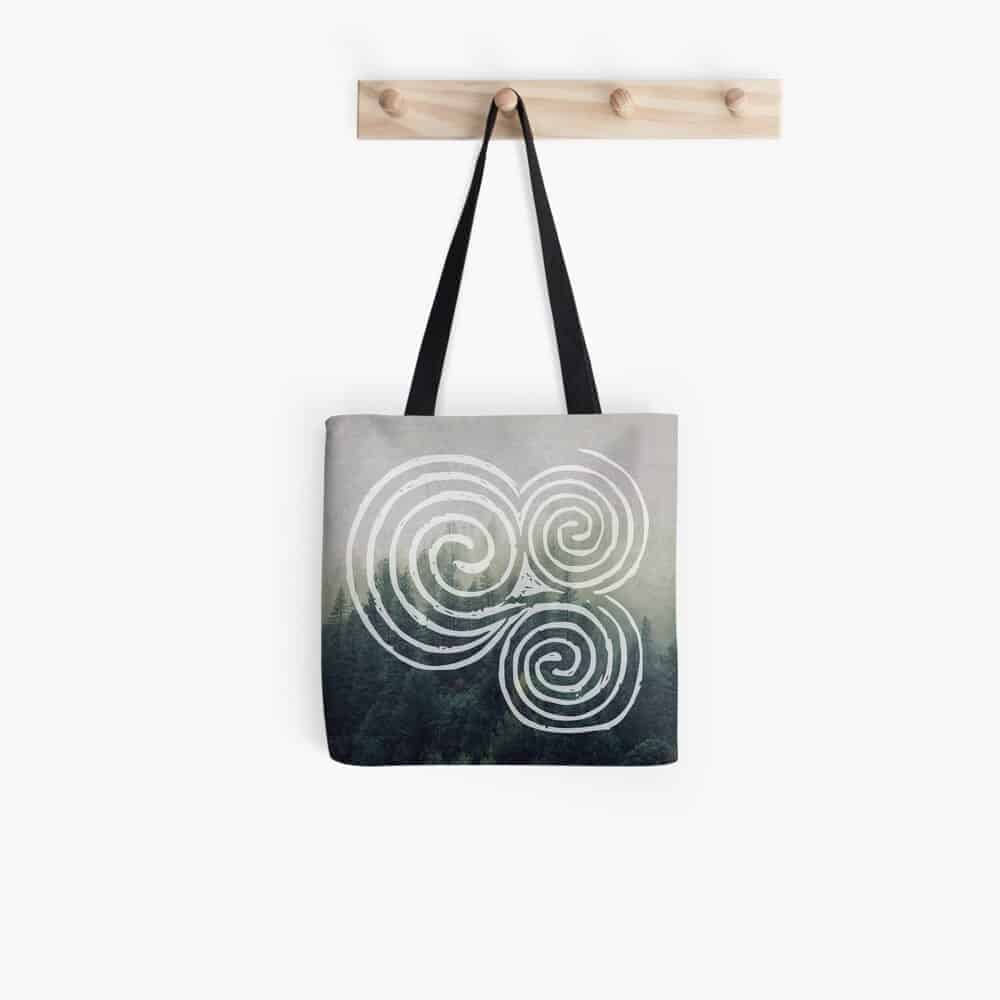 Newgrange Triple Spiral Tote Bag