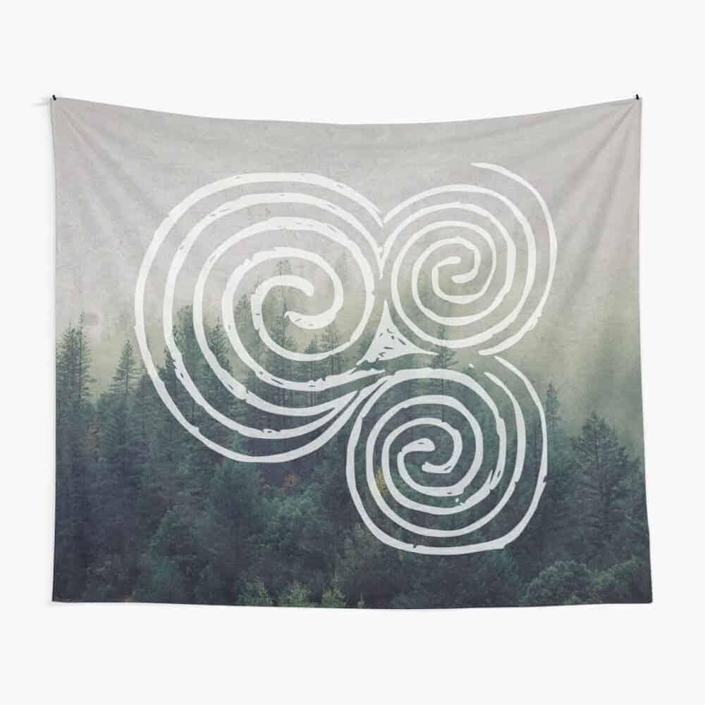 Newgrange Triple Spiral Tapestry